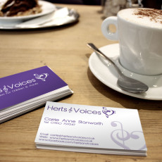 Herts and Voices Logo Design