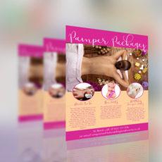 Pamper Party Leaflet/Flyer