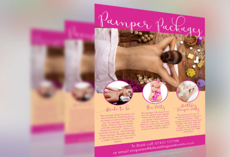 Pamper Party Leaflet/Flyer