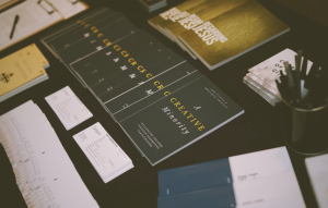 Marketing Materials - Dark Business Cards