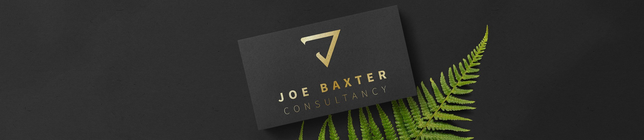 Gold Logo design on Black business card