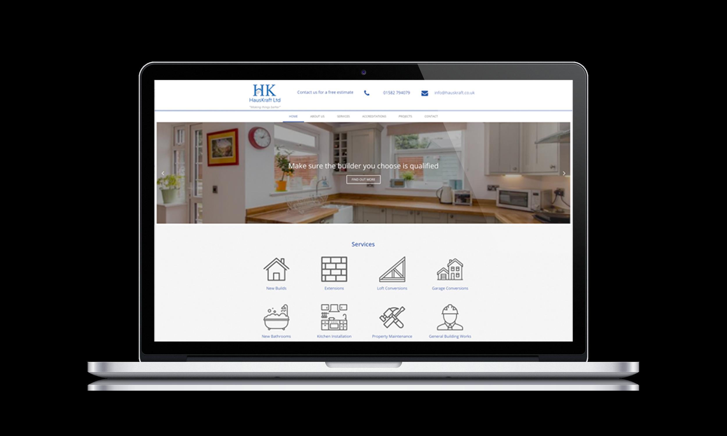 Hertfordshire Web Design Agency Website Design Mock Up