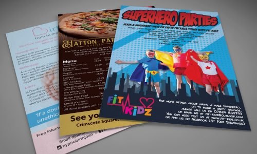 Promotional Marketing leaflets and Flyers